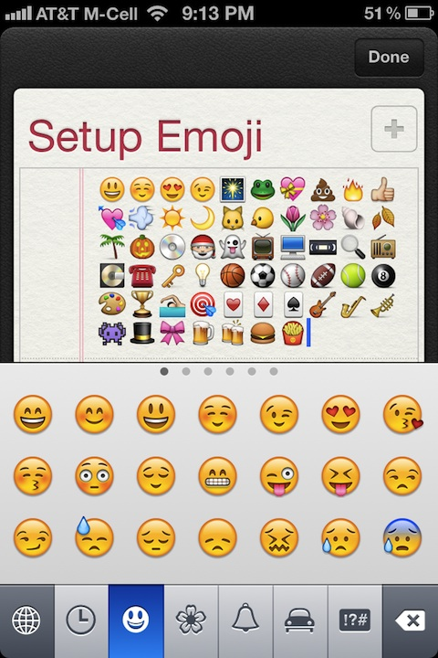 emoji in ios5