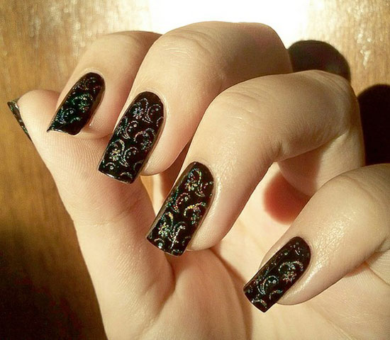 20 Easy Simple Black Nail Art Designs Supplies Galleries For Beginners 10