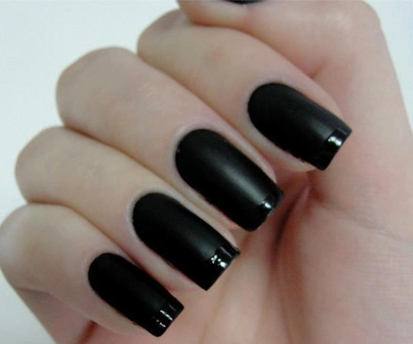 black nail nails pretty 21233