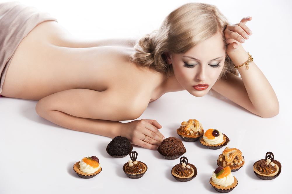 woman bed naked tarts sweets