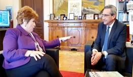 Συνεργασία του Περιφερειάρχη με την Πρυτάνισσα του Πανεπιστημίου Αιγαίου, Χ. Βιτσιλάκη, για την ενίσχυση των δομών του