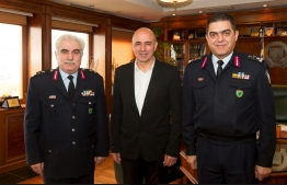 Δήμαρχος Λέρου ,στη συνάντηση με την Διευθύντρια της Υπουργού Προστασίας του Πολίτη κα Παπαμιχαήλ και τον Αρχηγό της ΕΛ.ΑΣ κο Α. Ανδρικόπουλο