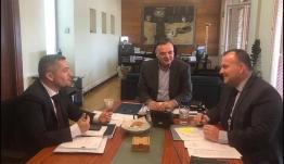 Συνάντηση εργασίας του Βουλευτή Δωδεκανήσου Ιωάννη Παππά με τον Γενικό Γραμματέα του Υπουργείου Πολιτισμού.