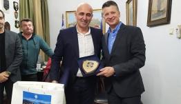 Εθιμοτυπική επίσκεψη αρχηγού λιμενικού σώματος στο Δήμο Λέρου