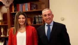 Συνάντηση εργασίας του Αντιπεριφερειάρχη Παιδείας,  Γιάννη Κρητικού με την Υφυπουργό Παιδείας και Θρησκευμάτων, Σοφία Ζαχαράκη στην Αθήνα