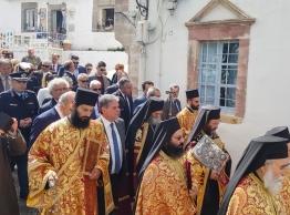 Στην Πάτμο για την τελετή του Ιερού Νιπτήρος  ο υποψήφιος περιφερειάρχης Μανώλης Γλυνός