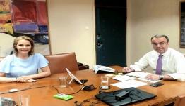 Συνάντηση Μίκας Ιατρίδη με τον Υπουργό Οικονομικών, Χρήστο Σταϊκούρα για τις εποχιακές επιχειρήσεις