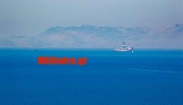 """Το ΓΙΑΒΟΥΖ με τις """"ουρές"""" του μεταξύ Ρόδου-Σύμης- Ορατό από τη Ρόδο-Φωτογραφίες"""