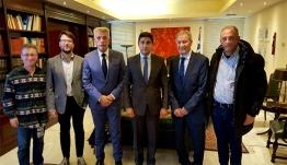 Ο Λευτέρης Αυγενάκης υποδέχθηκε τους προέδρους της Διεθνούς Ομοσπονδίας και Μεσογειακής Συνομοσπονδίας χάντμπολ