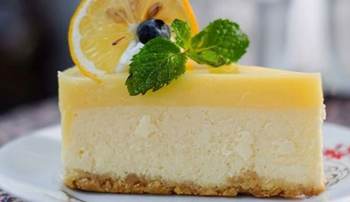 Cheesecake λεμόνι με γιαούρτι