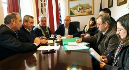 Συνάντηση εργασίας του Περιφερειάρχη Νοτίου Αιγαίου, Γιώργου Χατζημάρκου με τον Δήμαρχο Λέρου