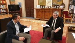 Δασικοί χάρτες και καταγραφή της βιομηχανικής κληρονομιάς της Δωδεκανήσου, στη συνάντηση του Περιφερειάρχη με τον Πρόεδρο του ΤΕΕ, Αντώνη Γιαννικουρή