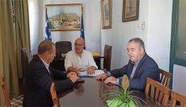 Επίσκεψη στο Δημαρχείο Λέρου πραγματοποίησε ο Χωρικός Αντιπεριφερειάρχης Δωδεκανήσου κ. Χρήστος Ευστρατίου