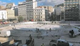 Η νέα πλατεία Ομονοίας με το συντριβάνι (εικόνες)