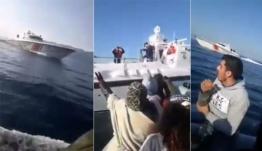 ΒΙΝΤΕΟ-ΣΟΚ! Η τουρκική Ακτοφυλακή επιχειρεί να βυθίσει βάρκα με πρόσφυγες στο Αιγαίο
