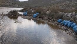 Τέσσερις τόνοι απορριμμάτων συλλέχθηκαν από τον υγρότοπο του Τριστόμου Καρπάθου (βίντεο)