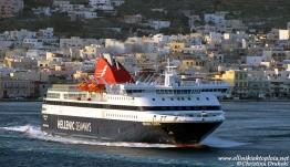 To πλοίο «NISSOS CHIOS» στη θέση του «Blue Star PATMOS»