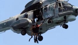 """Αεροδιακομιδή ασθενούς από πλοίο ανοιχτά της Ρόδου με """"Super Puma"""" της ΠΑ"""