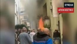 Συγκλονιστικές εικόνες από τη δραματική διάσωση στη φωτιά στην Κυψέλη [βίντεο]