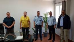Επίσκεψη εκπροσώπων των Ενώσεων Αξιωματικών και Αστυνομικών Υπαλλήλων στον Αστυνομικό Διευθυντή Ν. Αιγαίου για τα προβλήματα