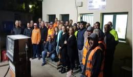 Με θέρμη και ενθουσιασμό υποδέχθηκαν το Θεοδόση Νικηταρά οι εργαζόμενοι στην καθαριότητα